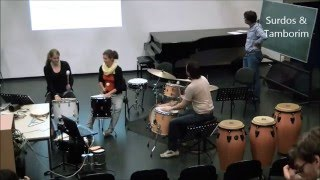 Percussion workshops for Brazilian rhythms