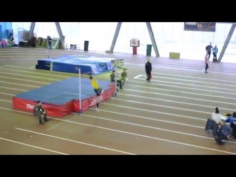 Віктор Шаповал 215 (Командний Чемпіонат України в приміщенні. Запоріжжя 28.01.2016)
