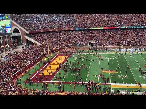 MN Gopher Fans Rush the Field after They Beat Penn State