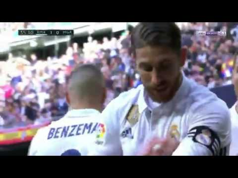REAL MADRID VS MALAGA High Quality Extended Highlights 2-1