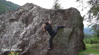 Sledge Hammer 6b @Murgtal Schweiz 11.07.2019 by Bouldering Berlin