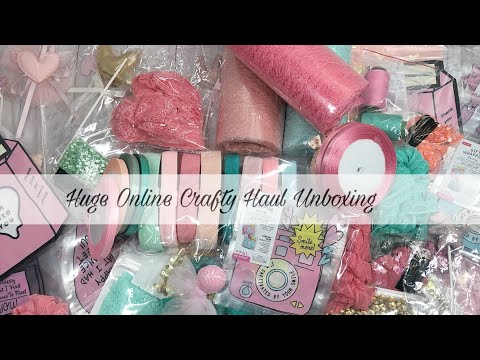 Huge Online Crafty Haul Unboxing