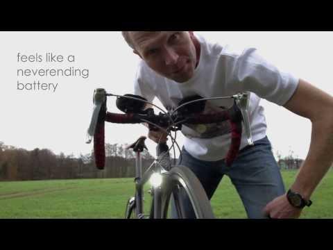 addio batterie, fili e vecchie dinamo sulla tua bicicletta!