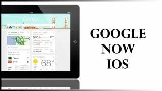Ein kurzes Überblick über die neue Google Now App fur iOS und ein kleiner Vergleich mit Android Google Now auf dem HTC One.