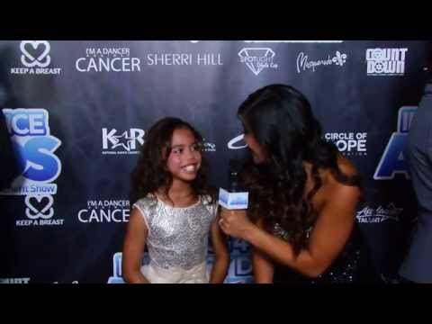 Asia Monet Ray on the 2014 Industry Dance Awards Red Carpet
