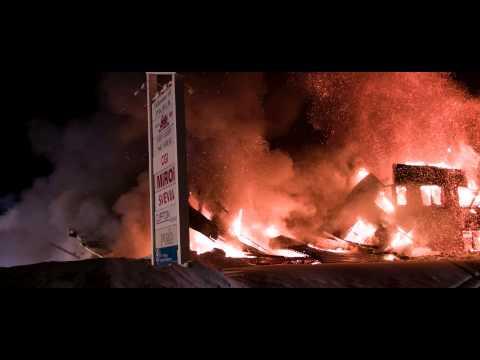 Brand på datapörtet i Pajala – 2015-02-25