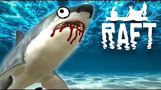 KAREN EATING SHARKS! | Raft Gameplay Ep. 2