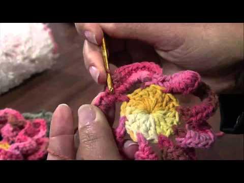 Mulher.com 23/04/2013 Maria José - Crochê flor gerbera  Parte 1/2