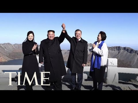 Kim Jong Un And Moon Jae In Wrap Up Summit At North Korea's Sacred Volcano | TIME