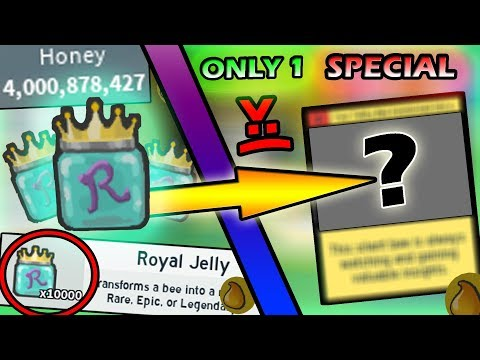 *HUGE* ROYAL JELLY OPENING- 1 SPECIAL BEE... - Roblox Bee Swarm Simulator