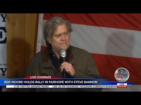 WATCH: Roy Moore Rally w/Special Guest Steve Bannon 12/5/17