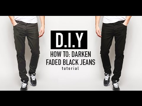 HOW TO: RE-DYE FADED BLACK JEANS (D.I.Y TUTORIAL) | JAIRWOO