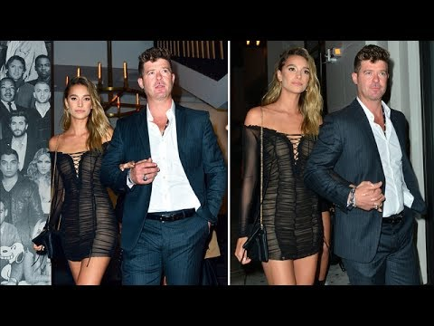 Robin Thicke Asked About Custody Settlement During Dinner Outing With April Love Geary