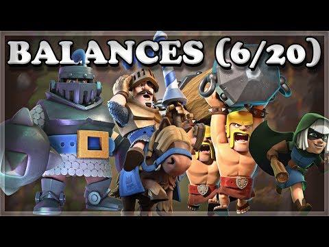 Balance Update 6/20 | Dash/Charge/Jump Changes | Clash Royale 🍊 (видео)