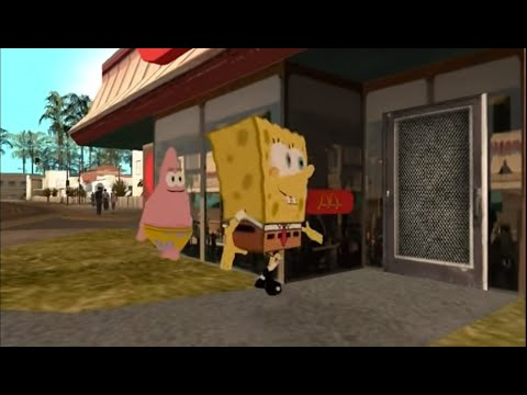 gta san andreas: spongebob
