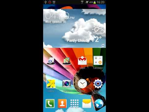 Video of Next Theme Galaxy S4 Note3 3D