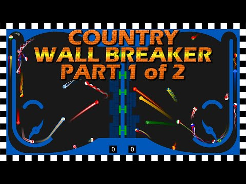 Country Wall Breaker 1 of 2 - World Cup Knockout Tournament - Marble Race Algodoo