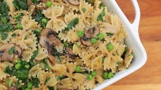 One Pot Creamy Mushroom Pasta | Easy Weeknight Dinners by The Domestic Geek