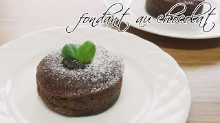 [몽브셰] 퐁당 오 쇼콜라 (fondant au chocolat)