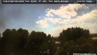 30 November 2015 - North Facing WeatherCam Timelapse
