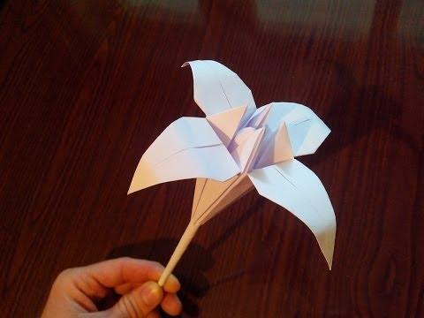 Лилии цветы из бумаги