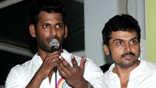 We are not backed by any alien power or political support- Vishal Speech | Nadigar Sangam Election Kollywood News 03/10/2015 Tamil Cinema Online
