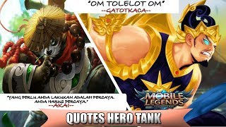 Video KATA KATA HERO TANK MOBILE LEGEND DAN TERJEMAHAN MP3, 3GP, MP4, WEBM, AVI, FLV November 2018