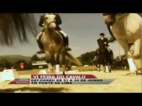 Reportagem da 'RegiõesTV' sobre a VI Feira do Cavalo de Ponte de Lima, que decorreu de 21 a 24 de junho, no Parque da Expolima.