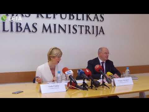 Veselības ministre Anda Čakša informē par aktualitātēm un prioritātēm veselības nozarē (©LETA video)