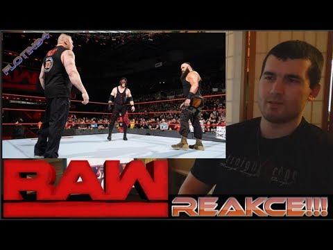 Brock lesnar Returns & Attacks Braun Strowman & Kane RAW 12/18/17 REACTION/REAKCE