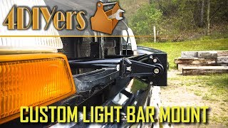 """Plans: http://www.4diyers.com/resources/metalwork/grilllightbar.phpBasic rust repair: https://www.youtube.com/watch?v=H44w5XvKuk0Light bar review: https://www.youtube.com/watch?v=_nWuW8FTFK8Video tutorial on how to fabricate a hidden grill mount for a light bar. This is a great project for beginner welders to help perfect your metal fabricating skills. This particular light bar was designed for a Ford Ranger and will possible fit the Mazda B Series as they share the same platform. The particular light bar used in this video is a 22"""" 5D LED light bar made by Auxbeam. Blueprints for these light bar plans are available on my website as a pdf file which can be easily printed off. This particular vehicle I am working on is a 1998 Ford Ranger. Website: http://4diyers.comPatreon: https://www.patreon.com/4diyersFacebook: https://www.facebook.com/4diyersGoogle Plus: https://plus.google.com/+4DIYersTwitter: https://twitter.com/4DIYersInstagram: https://www.instagram.com/4diyers/Tumblr: http://4diyers.tumblr.comPintrest: https://www.pinterest.com/4diyers/Tools/Supplies Needed:-welder-grinder with disks-square-scriber-welding equipment-wire brush-tape measure-nutcerts & nutcert toolProcedure:-disassembling the front of the vehicle to determine where the mount can be fastened to-material was purchased from a local steel supplier-fabricating the radiator mount first, mark out the rough dimensions with the paint marker, then mark the exact dimension with a scriber and square-using an angle grinder with cutting disk, cut the material to size-it's best to use a cut off saw for squareness, but not everyone has one-considering this is a thicker material, edges will need to be chamfers to help with welding penetration and reduce heat distortion-clean up welded areas to remove any surface impurities which may affect the welding process-for this I am using a flux core mig welder-if you have a surface to clamp down the parts you are welding, that does make it much easier so the parts don'"""
