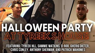 Costume Halloween Party at Tyreek's House! Patrick Mahomes the T-Rex