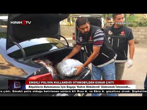 Osmaniye'de emekli polisin kullandığı otomobilden esrar çıktı