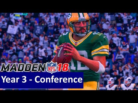 Madden 18 Los Angeles Rams Franchise - vs Green Bay Packers, Y3 Conference