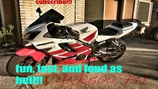 1. 2001 Honda CBR600f4i Review!