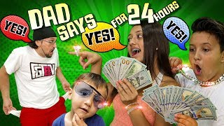 Video DAD SAYS YES to EVERYTHING KIDS WANT for 24 HOURS! (If Kids Were in Charge Challenge) MP3, 3GP, MP4, WEBM, AVI, FLV September 2019