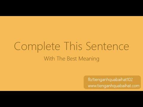 Luyện Ghép Câu Tiếng Anh 005 - Thời lượng: 20 giây.