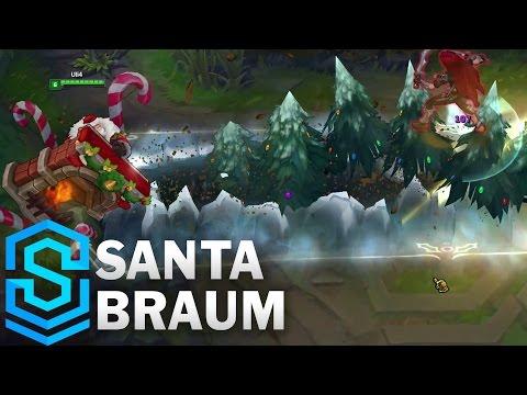 Một số hình ảnh và video review Skin Santa Braum - Braum Ông Già Noel - Giáng Sinh 2016