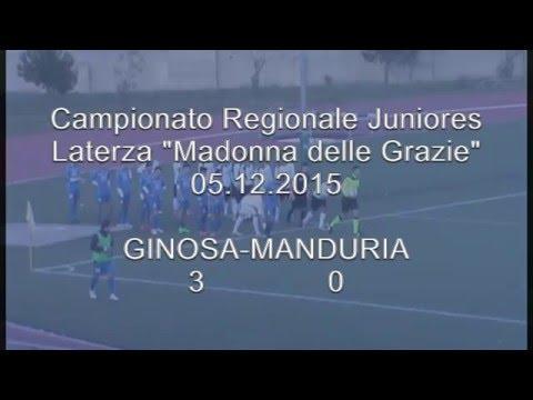 Preview video <strong>Juniores: GINOSA-MANDURIA 3-0 Il Ginosa affonda anche il Manduria e svetta in testa alla classifica</strong>
