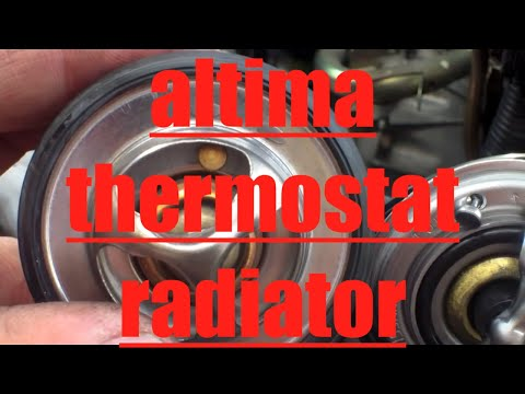 How to replace radiator thermostat '02-'06 Nissan Altima √