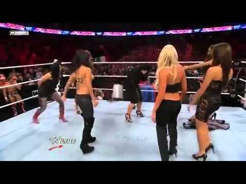 raw 10/18/10 daniel bryan and divas dancing