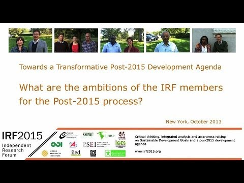 Independent Research Forum – What are your ambitions for the post-2015 development process?