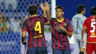Video Thailand vs Barcelona  (1-7) All Goals & Highlights 07.08.2013 Neymar first Goal for Barcelona MP3, 3GP, MP4, WEBM, AVI, FLV September 2018