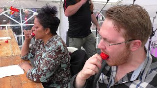 Chilli eating competition - Reading Chilli Festival 2016