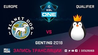 Planet Dog vs Kinguin, ESL One Genting EU Qualifier, game 2 [Maelstorm, Jam]