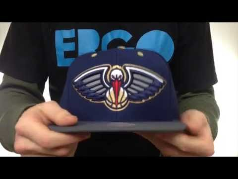 Pelicans '3M XL-LOGO SNAPBACK' Navy-Grey Hat by Mitchell & Ness