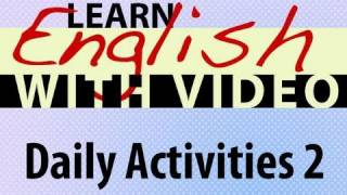 Daily Activities 2 Lesson