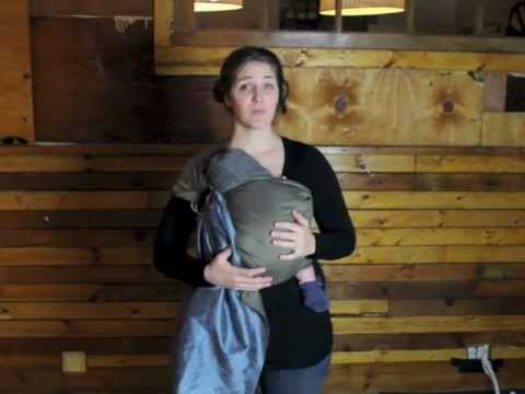 How to Carry a Newborn Baby Tummy to Tummy in a Ring Sling