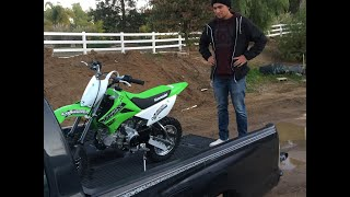 8. He Got A Brand New 2019 KLX 110L!!!!!