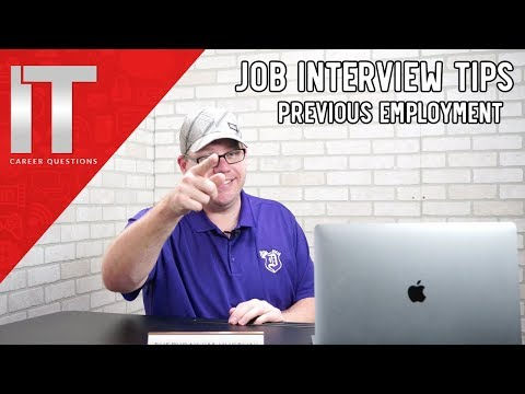 Job Interview Tips - Can You Tell Us About Your Previous Employer?